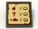 Part No: 30258pb015  Name: Road Sign Clip-on 2 x 2 Square with Goods / Prices Pattern (Sticker) - Set 10193