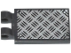 Part No: 30350bpb011  Name: Tile, Modified 2 x 3 with 2 Clips with Tread Plate and 4 Rivets Pattern (Sticker) - Set 60082