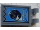 Part No: 30350bpb074  Name: Tile, Modified 2 x 3 with 2 Clips with 'RAVENCLAW' and Bird Banner Pattern (Sticker) - Set 75956
