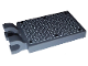 Part No: 30350cpb034  Name: Dark Bluish Gray Tile, Modified 2 x 3 with 2 Clips (thick U clips) with 6 Black Rivets on Silver Tread Plate Pattern (Sticker) - Set 7944