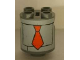 Part No: 30361pb002  Name: Brick, Round 2 x 2 x 2 Robot Body with Red Tie and Panels Pattern (Sticker)