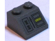 Part No: 3039pb029  Name: Slope 45 2 x 2 with Control Panel with Yellow Rectangle Pattern (Sticker) - Set 7666