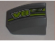 Part No: 30602pb037L  Name: Slope, Curved 2 x 2 Lip, No Studs with 'RUN' and 'V8' Pattern Model Left (Sticker) - Set 8192