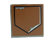 Part No: 3068bpb0665  Name: Tile 2 x 2 with Black Pentagon and Paint Scratches Pattern (Sticker) - Set 6210