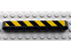 Part No: 40490pb003R  Name: Technic, Liftarm 1 x 9 Thick with Black and Yellow Danger Stripes Pattern Model Right (Sticker) - Set 8285