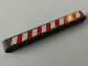 Part No: 40490pb029L  Name: Technic, Liftarm 1 x 9 Thick with Red and White Danger Stripes Model Left Side Pattern (Sticker) - Set 8289