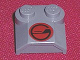 Part No: 41855pb07  Name: Brick, Modified 2 x 2 x 2/3 Two Studs, Lip End with Red/Black Circle Pattern