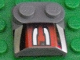 Part No: 41855pb09  Name: Brick, Modified 2 x 2 x 2/3 Two Studs, Lip End with Silver/Black/Red Number 3 Left Half Pattern