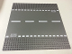 Part No: 44336px4  Name: Baseplate, Road 32 x 32 6-Stud Straight with White Dashed Lines and Storm Drain Pattern