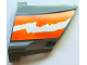 Part No: 44352pb15  Name: Technic, Panel Fairing #22 Large Short, Small Hole, Side A with Orange and White Splatter Pattern 2 (Sticker) - Set 8297
