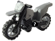 Part No: 50860c02  Name: Motorcycle Dirt Bike, Complete Assembly with Black Chassis and Light Bluish Gray Wheels