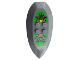 Part No: 51812pb01  Name: Nestle Promo Figure Rascus Shield with Monkey Pattern (Stickers) - Set 4941