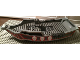 Part No: 54856  Name: Duplo Boat Hull 14 x 31 Top Section with Red Trim and White Skulls