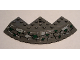 Part No: 58846pb01  Name: Brick, Round Corner 10 x 10 with Slope 33 Edge, Axle Hole, Facet Cutout with Bricks and Grass Pattern (Sticker) - Set 7623