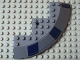 Part No: 58846pb04L  Name: Brick, Round Corner 10 x 10 with Slope 33 Edge, Axle Hole, Facet Cutout with Dark Blue Rectangles Pattern Model Left Side (Stickers) - Set 8016