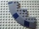 Part No: 58846pb04R  Name: Brick, Round Corner 10 x 10 with Slope 33 Edge, Axle Hole, Facet Cutout with Dark Blue Rectangles Pattern Model Right Side (Stickers) - Set 8016