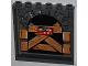 Part No: 59349pb063  Name: Panel 1 x 6 x 5 with Stone Arch, Wooden Boards and 'CAUTION DO NOT ENTER' Pattern on Inside (Sticker) - Set 79103