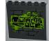 Part No: 59349pb065  Name: Panel 1 x 6 x 5 with Graffiti Tag 'MUTANTS RULE!' on Brick Wall Pattern (Sticker) - Set 79103