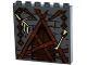 Part No: 59349pb085  Name: Panel 1 x 6 x 5 with Bricks, Barricaded Door and Bones on Chains Pattern (Sticker) - Set 79014