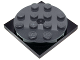 Part No: 60474c01  Name: Turntable 4 x 4 x 2/3 Top with Black Square Base, Free-Spinning, Complete Assembly (60474 / 61485)