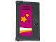Part No: 60614pb001  Name: Door 1 x 2 x 3 with Vertical Handle, New Mold with School Locker with 2 Orange Stars Pattern (Sticker) - Set 41005