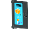 Part No: 60614pb003  Name: Door 1 x 2 x 3 with Vertical Handle, New Mold with School Locker with Lavender Dots, Basketball Backboard and Ball Pattern (Sticker) - Set 41005