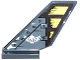 Part No: 6239pb051  Name: Tail Shuttle with Rivets, Wooden Rudder and White Winged Skull Pattern on Both Sides (Stickers) - Set 70747