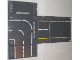 Part No: 64699pb01  Name: Container, Racers Fold-Out Race Track Case 34 x 42 with Police Streets Pattern (Stickers) - Set 8211
