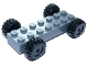 Part No: 85559c01  Name: Vehicle, Base Fast Food Racer 2 x 7 x 2/3 with Black Wheels