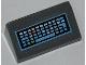 Part No: 85984pb016  Name: Slope 30 1 x 2 x 2/3 with Computer Keyboard Pattern (Sticker) - Set 6873