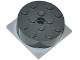Part No: 87081c03  Name: Turntable 4 x 4 x 1 1/3 Top with Light Bluish Gray Square Base, Locking (87081 / 61485)