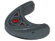 Part No: 87587pb02  Name: Shark Head with Rounded Nose with Oscilloscope and Armor Plates Pattern (Sticker) - Set 76027