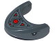 Part No: 87587pb03  Name: Shark Head with Rounded Nose with Black Eyes, Oscilloscope and Armor Plates Pattern (Sticker) - Set 76027