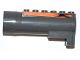 Part No: 87944pb03  Name: Air Blast Receiver (Racers) with Orange Line with Black Flames Pattern on Both Sides (Stickers) - Set 7971