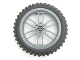 Part No: 88517c02  Name: Wheel 75mm D. x 17mm Motorcycle with Black Tire 100.6mm D. Motorcycle (88517 / 11957)