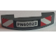 Part No: 93273pb050  Name: Slope, Curved 4 x 1 Double No Studs with 'PN60022' License Plate and Red and White Danger Stripes Pattern (Sticker) - Set 60022