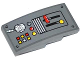 Part No: 93606pb020  Name: Slope, Curved 4 x 2 No Studs with Levers, Radio and Buttons Pattern (Sticker) - Set 60061