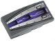Part No: 93606pb024  Name: Slope, Curved 4 x 2 No Studs with Purple Stripe, 3 Air Intakes and Rivets Pattern (Sticker) - Set 70722