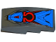 Part No: 93606pb035  Name: Slope, Curved 4 x 2 No Studs with Armor Plates and Red Omega Pattern (Sticker) - Set 76028