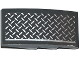 Part No: 93606pb042R  Name: Slope, Curved 4 x 2 No Studs with Tread Plate and Silver Line Pattern Model Right Side (Sticker) - Set 75919