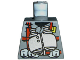 Part No: 973pb0180  Name: Torso Dino Vest with Red Harness and Silver Binoculars Pattern
