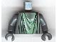 Part No: 973pb0309c01  Name: Torso Harry Potter Marauder's Map Statue Pattern / Dark Bluish Gray Arms / Dark Bluish Gray Hands