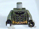 Part No: 973pb0492c01  Name: Torso Batman Logo with Body Armor and Yellow Belt Pattern / Dark Bluish Gray Arms / Black Hands