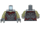 Part No: 973pb1147c01  Name: Torso LotR Crude Plate Mail Armor and Dark Red Shirt Tattered Pattern (Moria Orc) / Olive Green Arms / Dark Bluish Gray Hands