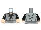 Part No: 973pb1169c01  Name: Torso SW Jedi Robe, Waist Sash and Black Open-Neck Shirt Pattern / Black Arms / Light Flesh Hands