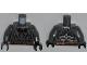 Part No: 973pb1344c01  Name: Torso Batman Logo with Body Armor and Copper Belt Pattern / Dark Bluish Gray Arms / Black Hands