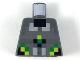 Part No: 973pb3300  Name: Torso Black, Silver, Light Bluish Gray, Lime, and Green Pixelated Armor Pattern