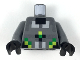 Part No: 973pb3300c01  Name: Torso Black, Silver, Light Bluish Gray, Lime, and Green Pixelated Armor Pattern / Dark Bluish Gray Arms / Black Hands