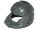 Part No: 99254pb01  Name: Minifigure, Headgear Helmet Space with Open Visor Large and Silver Stripe Pattern