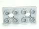 Part No: 10661  Name: Duplo, Plate 2 x 4 with 2 Holes with Locking Ridges